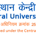 Central University of Rajasthan, Ajmer, Wanted Teaching Faculty