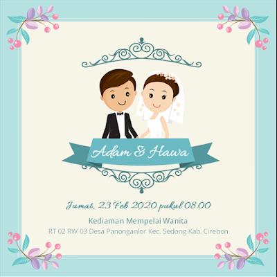 contoh undangan pernikahan unik dan simple