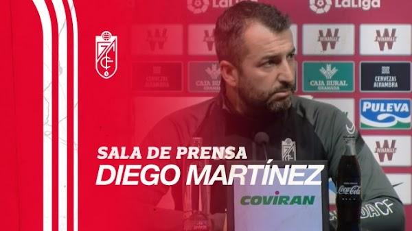 """Diego Martínez - Granada -: """"El Málaga es un rival muy parecido a nosotros"""""""