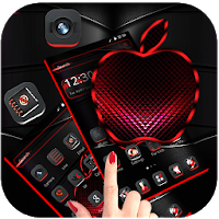 Red Black Apple Dark Launcher Theme  Apk for Android