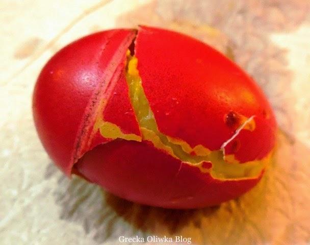 rozbite wielkanocne jajko