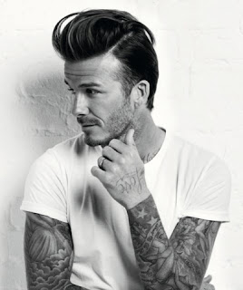 David Beckham Pompadour Hairstyle 1 Pinterest