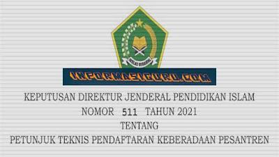 Download SK/Keputusan Dirjen Pendis Nomor 511 Tahun 2021 Tentang Juknis Pendaftaran Pengadaan Pesantren I PDF