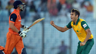 South Africa vs Netherlands 21st Match ICC World T20 2014 Highlights