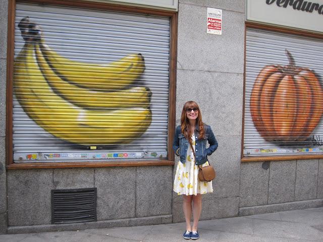 vestido de plátanos