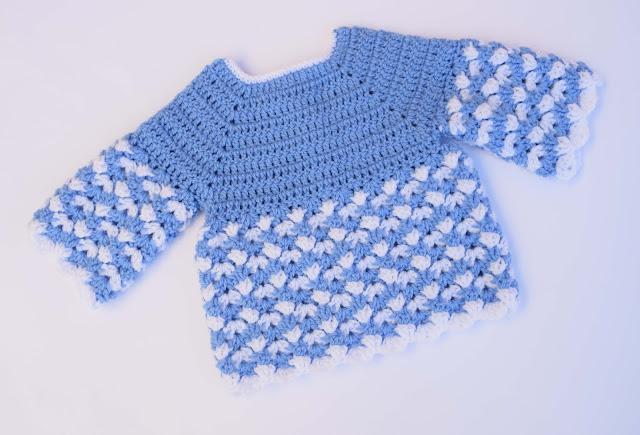6 - Crochet Imagen Saco,jersey y chambrita a crochet y ganchillo por Majovel Crochet