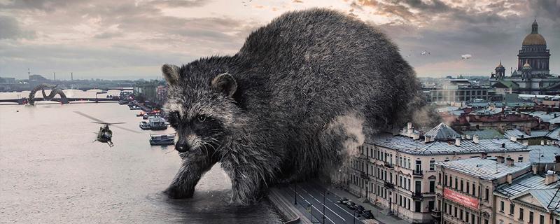 Los animales gigantes de Vadim Solovyev, toman la ciudad