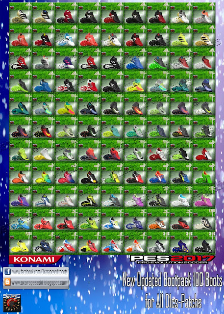 PES 2017 OxaraPESEdit BootPack ( 100 HD Boots )