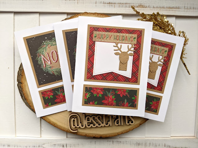 Christmas Card using Michael's Recollections Say Freeze for Jess Crafts Sketch 17