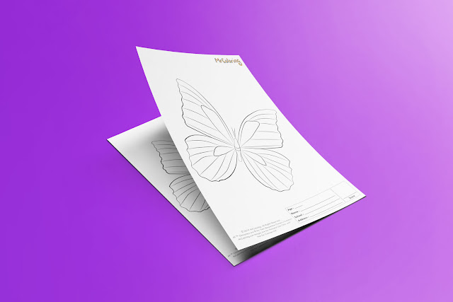 Free Printable Butterfly Template Coloriage Outline Blank Coloring Page pdf For Kids Pictures To Print Out Fun Colouring Pages Kindergarten Preschool Toddler sheet7