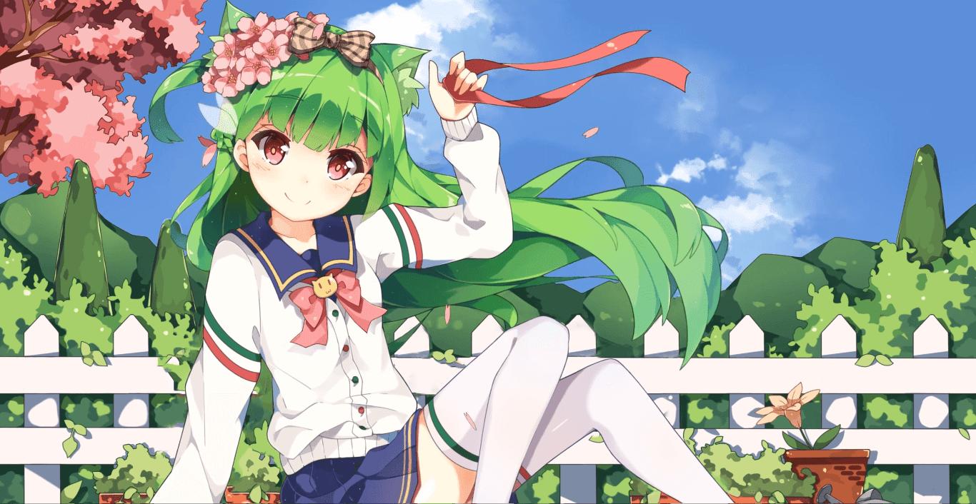 Spring Uniform 2K 30fps [Wallpaper Engine Anime]