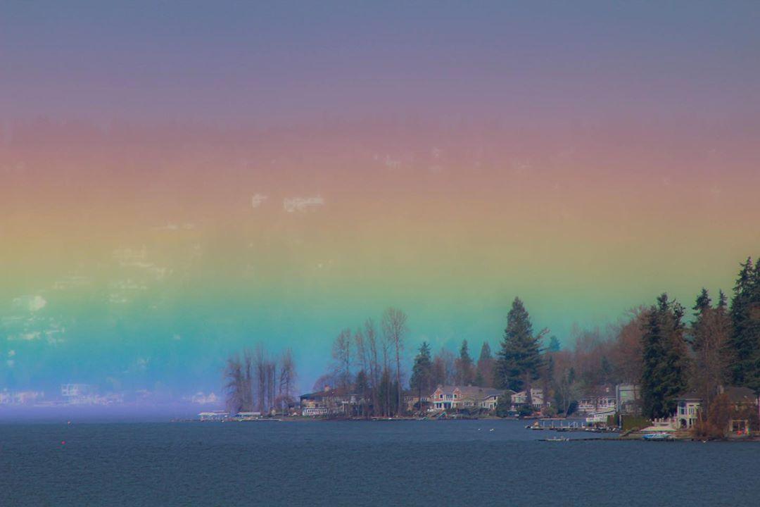 Округло-горизонтальная дуга на озере Саммамиш
