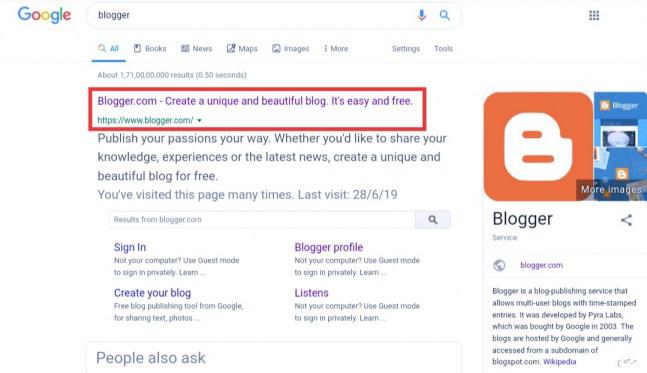 Google-blogger-website