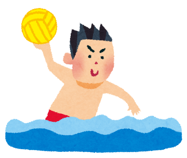 年賀状 年賀状の文字 : オリンピックのイラスト「水球 ...