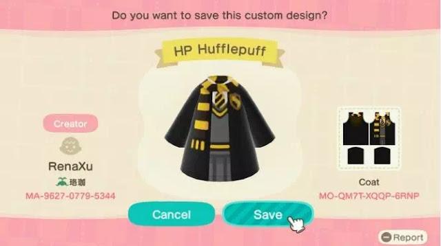 Kode Pakaian Harry Potter Animal Crossing New Horizons-10