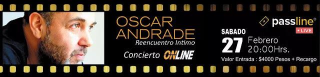 Oscar Andrade realizará su esperado primer show online