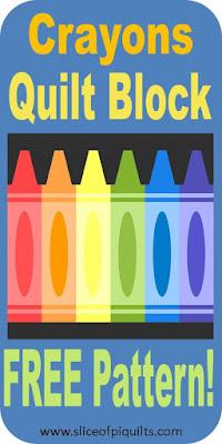 Crayon quilt block free pattern