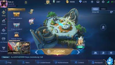 Mobile Legends Bukti Screenshot Halaman Awal