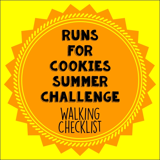 Cookies Summer Challenge Walking Checklist
