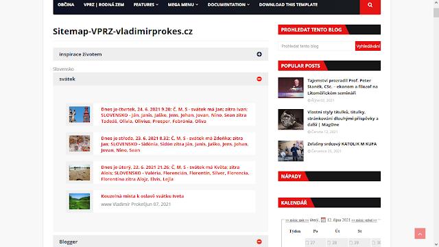 Seznam článku webu VPRZ 09-2021
