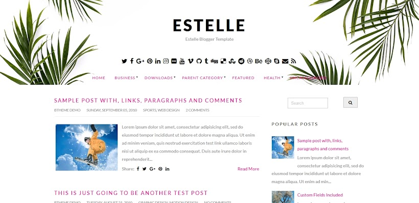 Estelle Free Blogger Template