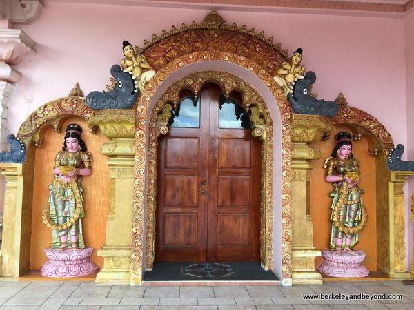 ornate door of Dattatreya Temple in Carapichaima, Trinidad