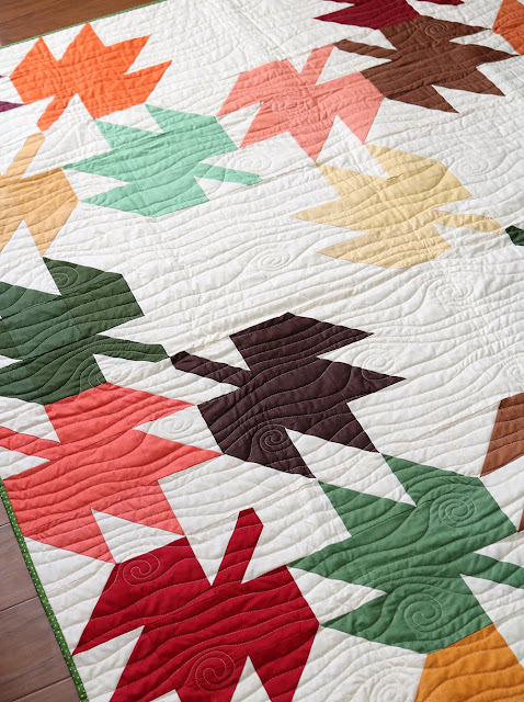 Modern Maples quilt done in all solids  - love the color!