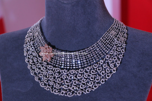 Fashionable 2 Tone Diamond Necklace