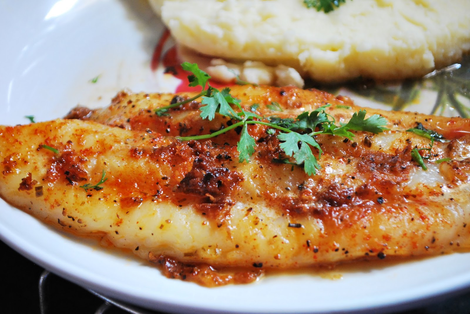 Pan cuisine pan seared basa fish fillet with creamy for Pan fried fish fillet recipes