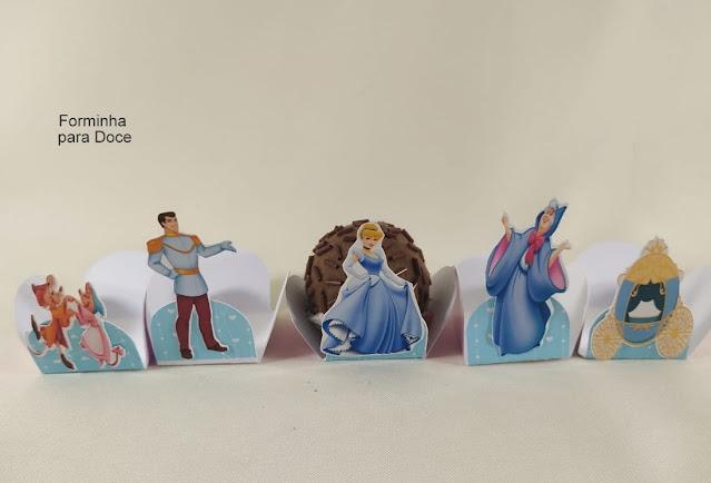 forminha para Doces As Princesas  Disney dicas e ideias para decoração de festa personalizados