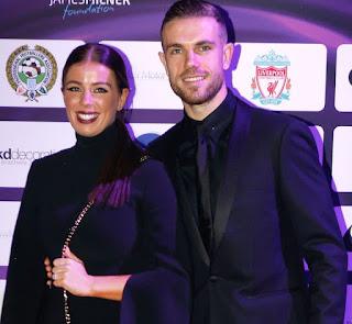 Picture of Rebecca Burnett with her celebrity husband Jordan Henderson