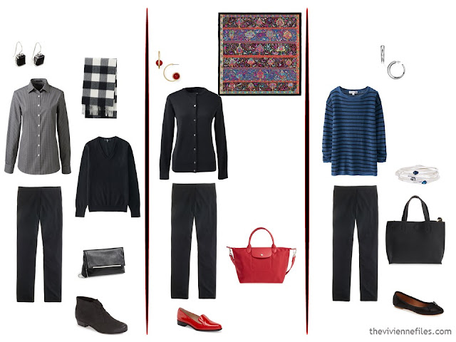 How to evaluate a capsule wardrobe with a black based color palette