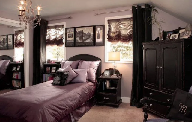 21. red Gothic bed room