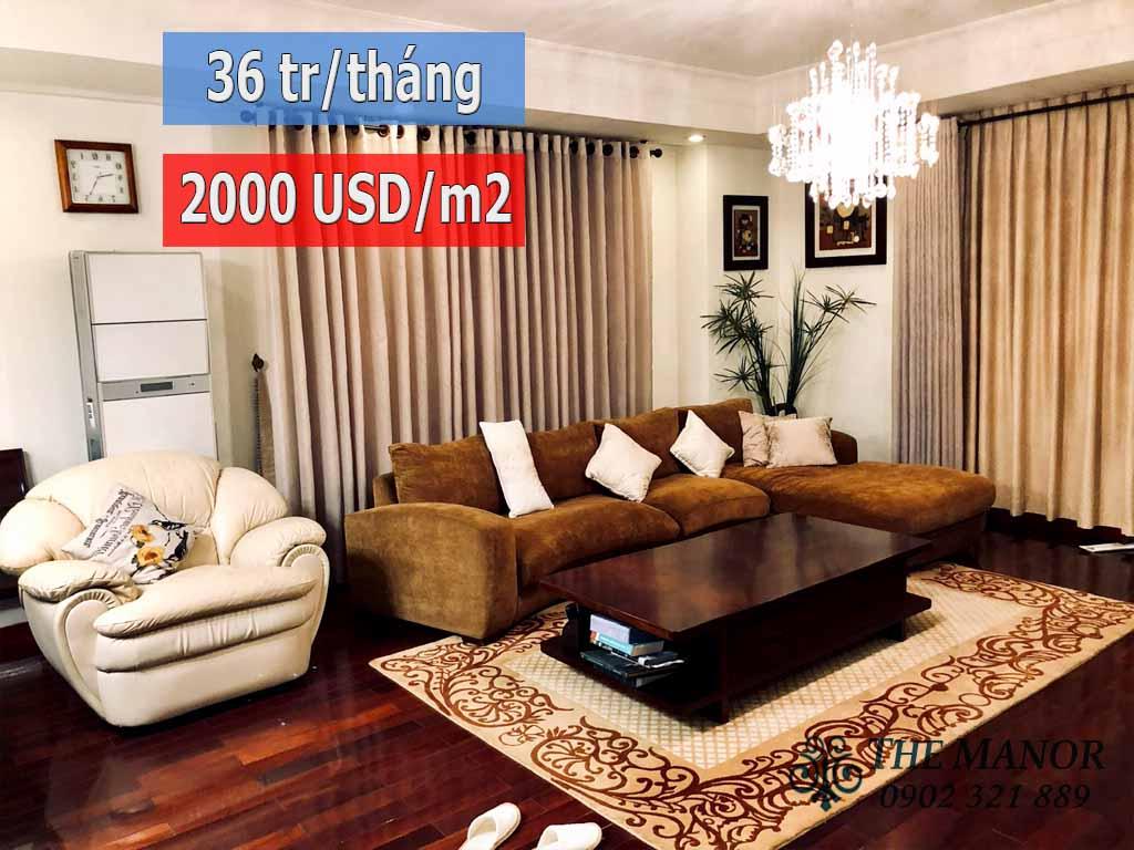 Tòa AE The Manor 1 cho thuê hoặc chuyển nhượng căn hộ 157m2 - pic 1