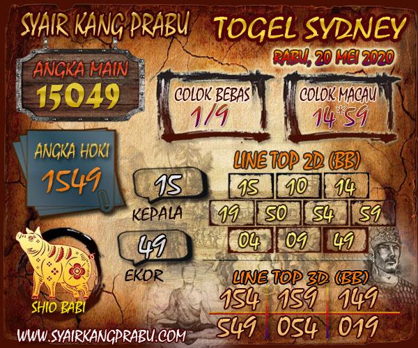 Prediksi Togel Sydney Rabu 20 Mei 2020 - Syair Kang Prabu
