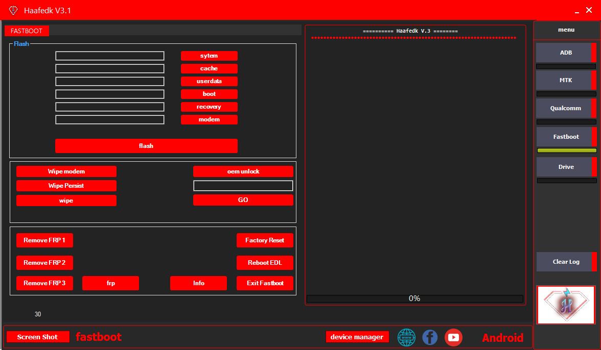 Haafedk V3.1 Pattern PIN Unlock Tool | OPPO Xiaomi VIVO Tecno Lenovo | MTK Mi Account FRP