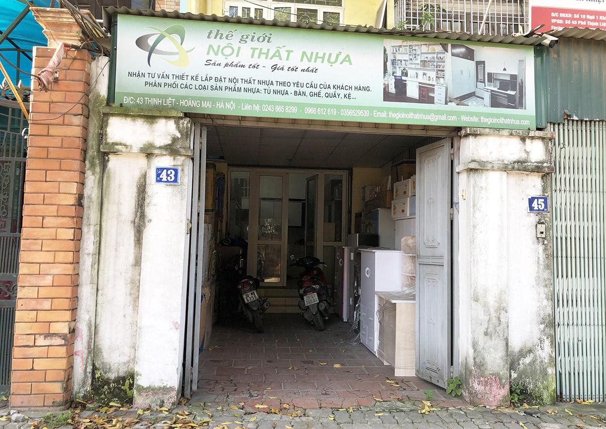 Cửa hàng Thế giới nội thất nhựa ở 43 Thịnh Liệt