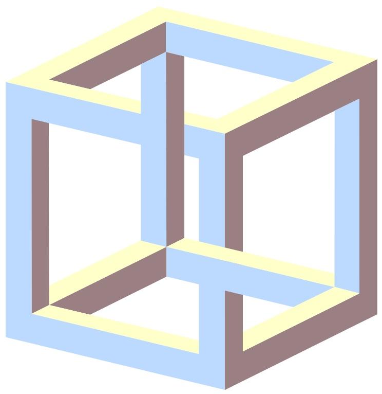 Невозможный куб, Impossible Cube, Эшер, головоломка, оптическая иллюзия