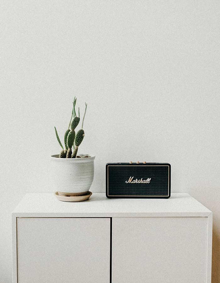 Inspiração de decoração com cactos. Os cactos ficam lindos em ambientes minimalistas e em vasos cerâmicos.