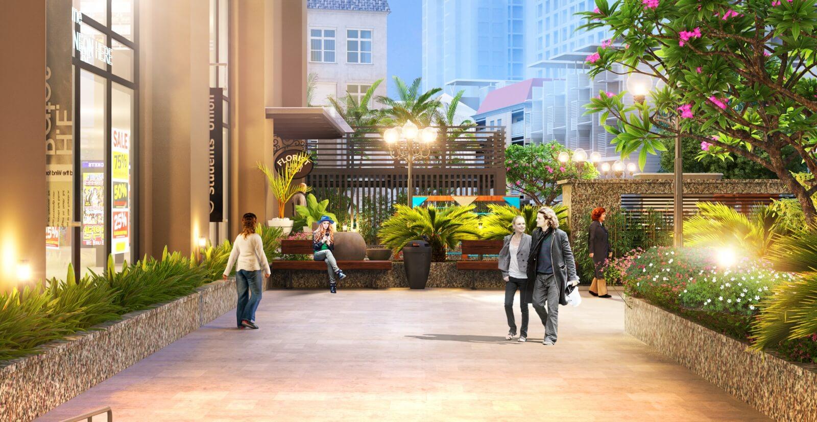 Quảng trường xanh dự án 108 Nguyễn Trãi