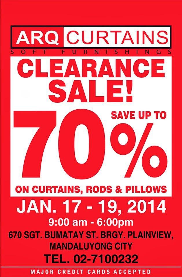 6e6e2c63bc37 Manila Shopper  ARQ Curtains Clearance SALE  Jan 17-19 2014