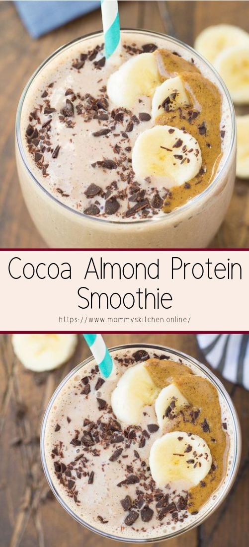 Cocoa Almond Protein Smoothie #healthyfood #dietketo