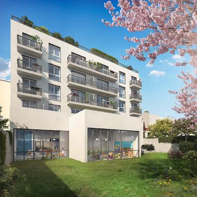 Perspective 3d logements promotion jardin