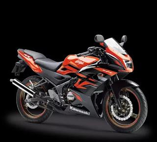 Ninja 150RR Orange Hitam