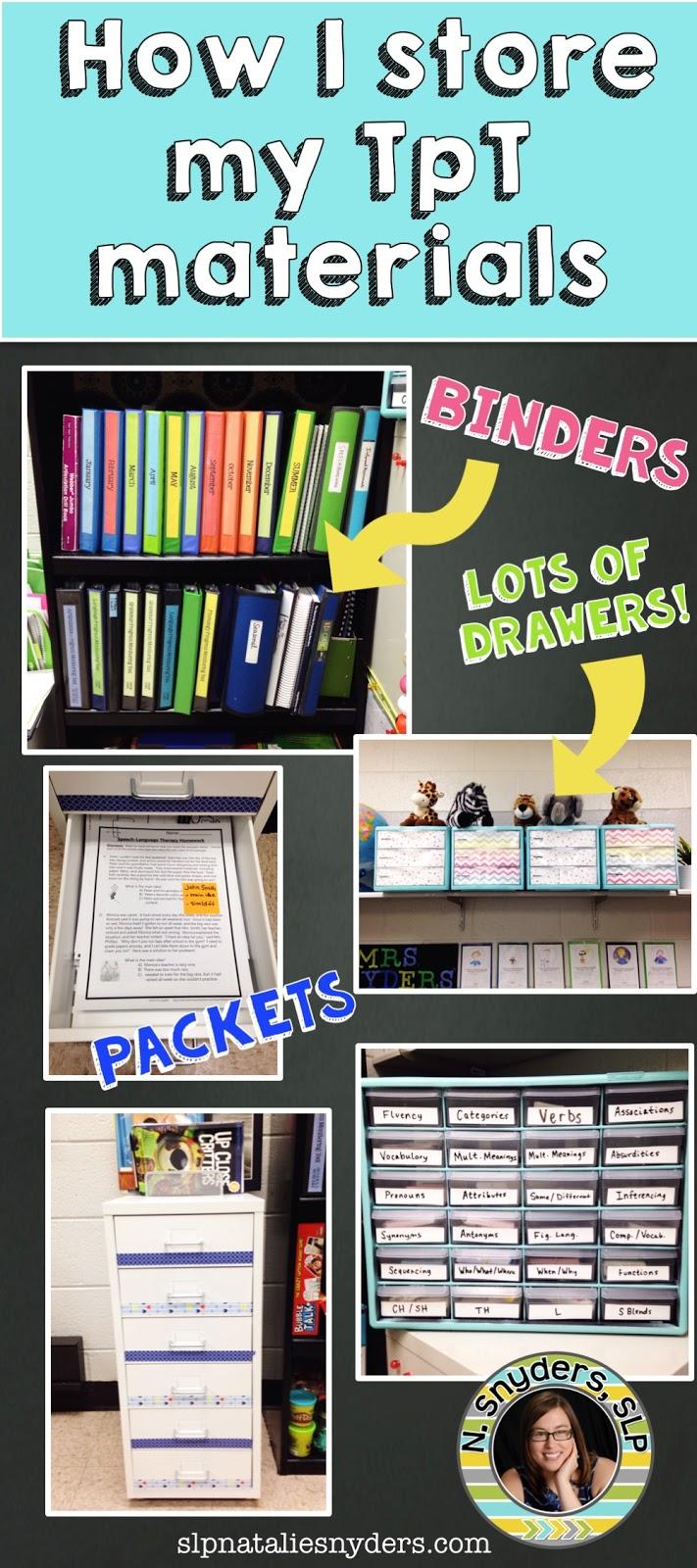 How I Organize My TpT Materials