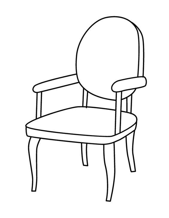 Tranh tô màu cái ghế tựa có đệm