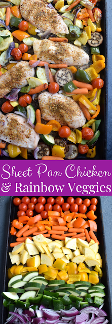 Sheet Pan Chicken and Rainbow Vegetables recipe