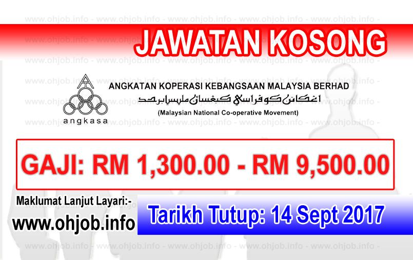 Jawatan Kerja Kosong Angkatan Koperasi Kebangsaan Malaysia Berhad - ANGKASA logo www.ohjob.info september 2017