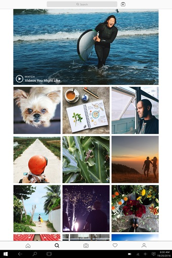 Instagram launches Windows 10 app