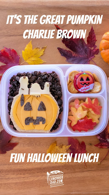 How to make an It's the Great Pumpkin Charlie Brown Snoopy lunch for Halloween!
